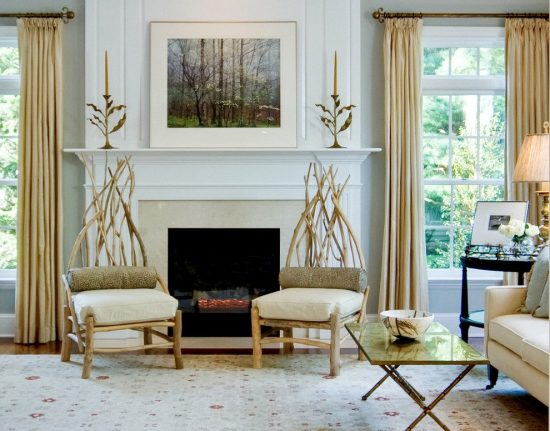 Dramatic Philadelphian Living Room and Garden by Leslie Hayes