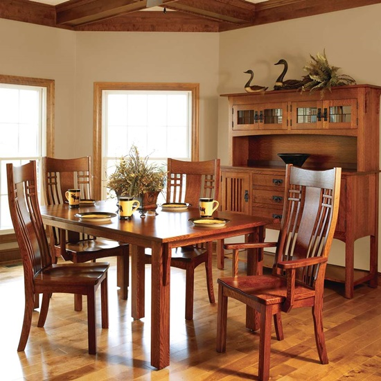 How to take a proper care of your wooden furniture to keep for Arts and crafts dining room set