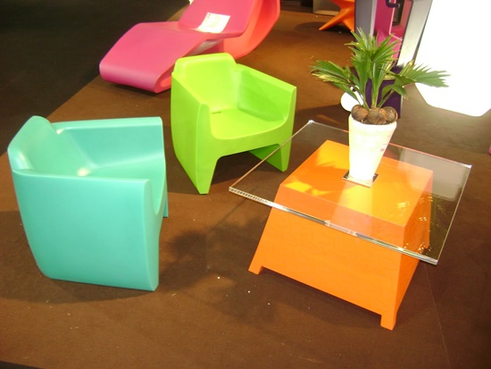 Stunning modern plastic furniture for your home interior design Plastic home furniture