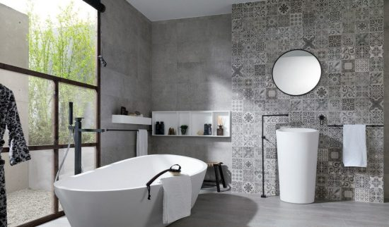 High-End Floor and Wall Tile Options for Your Kitchen and Bathroom Inspired from Porcelanosa Designs