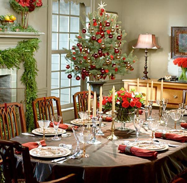 Christmas buffet table decoration ideas