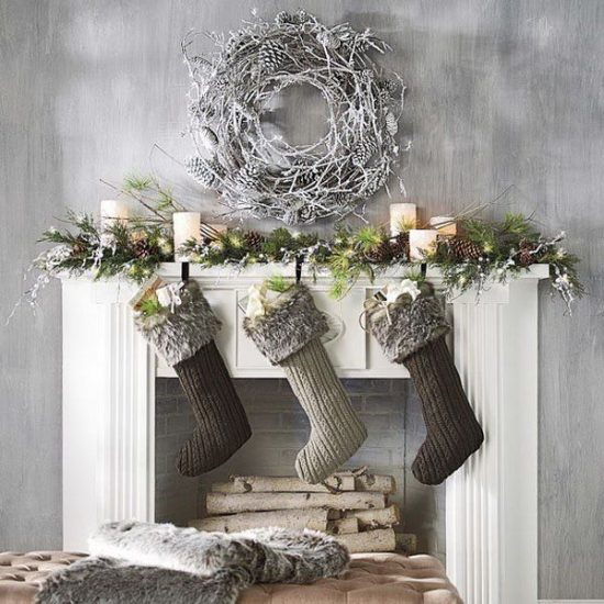Gorgeous christmas decorations with a modern flair for - Modern christmas mantel ideas ...