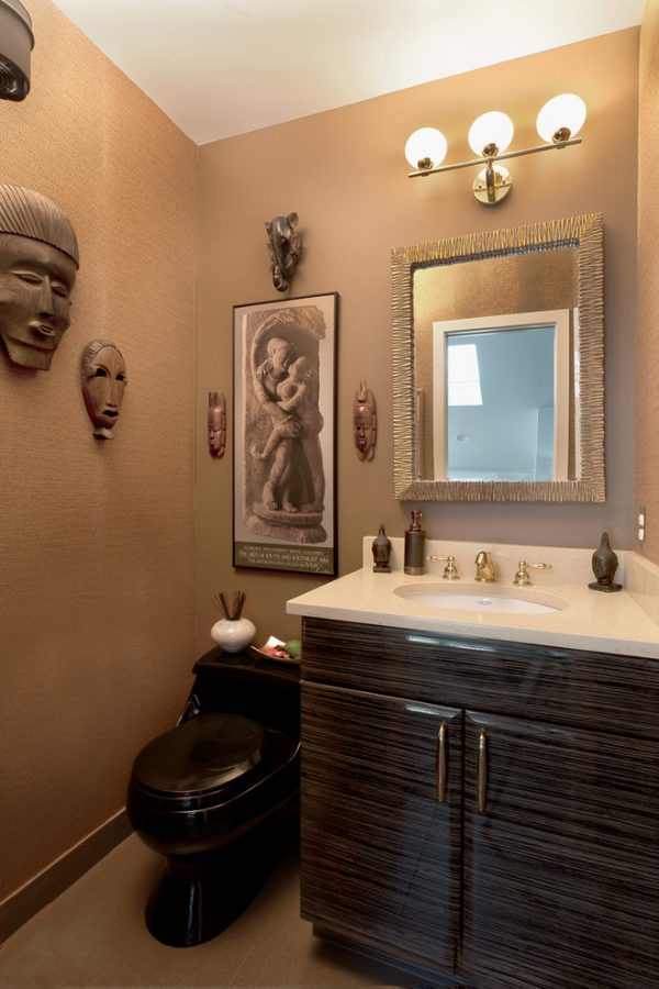 bathroom decorating ideas and designs Remodels Photos ART Design Build Bethesda Maryland United States contemporary-powder-room