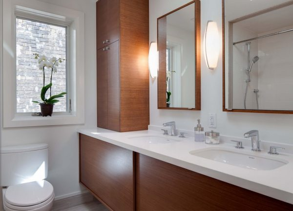 bathroom decorating ideas and designs Remodels Photos Beauparlant Design inc Toronto Ontario, Canada United States modern-bathroom