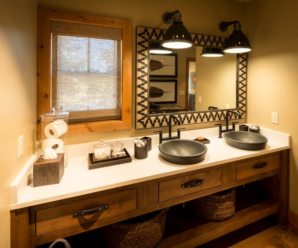 bathroom decorating ideas and designs Remodels Photos ashley campbell interior design Denver Colorado United States rustic-bathroom