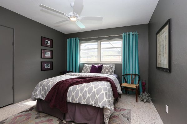 bedroom decorating ideas and designs Remodels Photo Chic on the Cheap Sarasota Florida United States bedroom-005