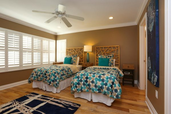 bedroom decorating ideas and designs Remodels Photo Chic on the Cheap Sarasota Florida United States contemporary-bedroom-009