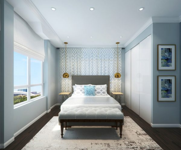 bedroom decorating ideas and designs Remodels Photo LUX Design Toronto Ontario,Canada transitional-rendering-001