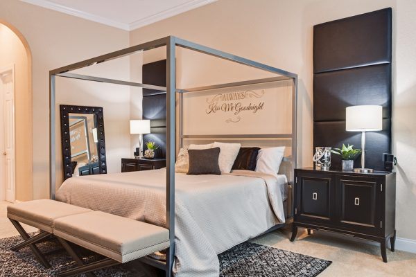 bedroom decorating ideas and designs Remodels Photos A.Clore Interiors Sanford Florida United States contemporary-bedroom-003