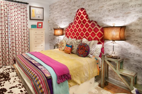 bedroom decorating ideas and designs Remodels Photos A.Clore Interiors Sanford Florida United States eclectic-bedroom-006