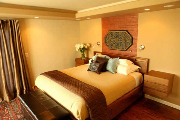 bedroom decorating ideas and designs Remodels Photos A.S.D. Interiors - Shirry Dolgin, Owner Burbank California contemporary-bedroom-002