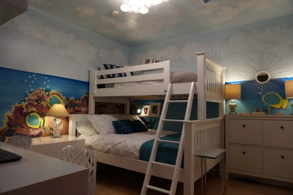 bedroom decorating ideas and designs Remodels Photos Alina Druga Interiors Castro Valley California beach-style-kids-003