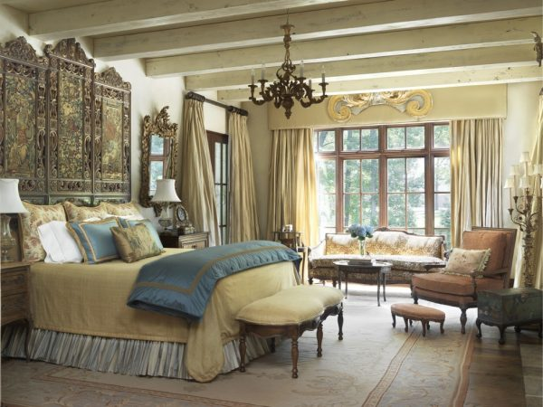 bedroom decorating ideas and designs Remodels Photos Amy Studebaker Design St. Louis Missouri United States mediterranean-bedroom