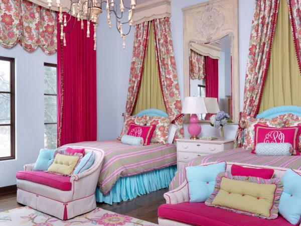 bedroom decorating ideas and designs Remodels Photos Amy Studebaker Design St. Louis Missouri United States mediterranean-kids