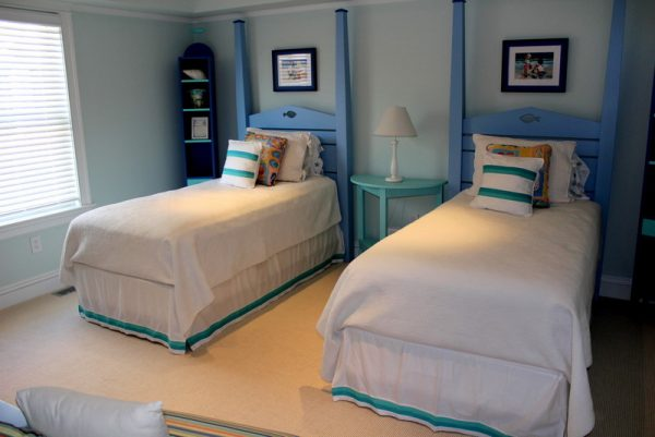 bedroom decorating ideas and designs Remodels Photos Beach Dwellings Avalon New Jersey United States beach-style-bedroom-002