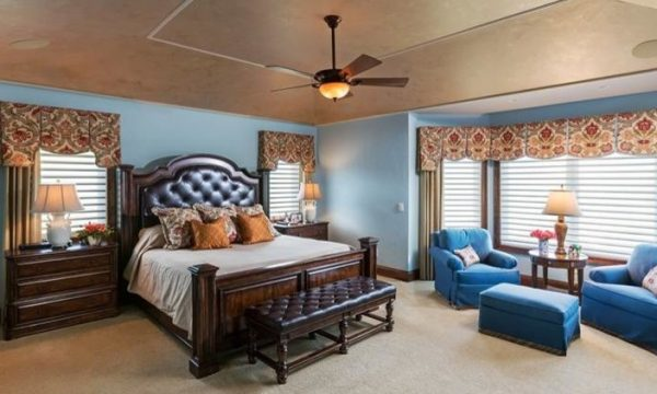 bedroom decorating ideas and designs Remodels Photos Collaborative Design Waukesha Wisconsin United States transitional-window-treatments