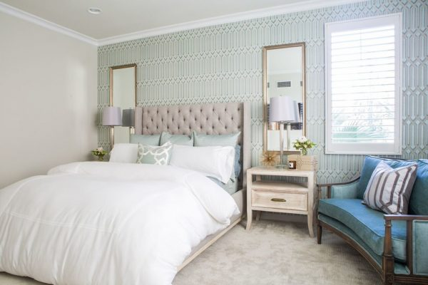 bedroom decorating ideas and designs Remodels Photos Dannielle Albrecht Designs Los Angeles California United States transitional-bedroom-001
