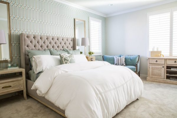 bedroom decorating ideas and designs Remodels Photos Dannielle Albrecht Designs Los Angeles California United States transitional-bedroom-002
