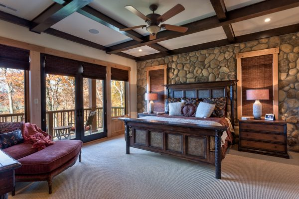 bedroom decorating ideas and designs Remodels Photos Dianne Davant and Associates Banner Elk North Carolina United States rustic-bedroom-004