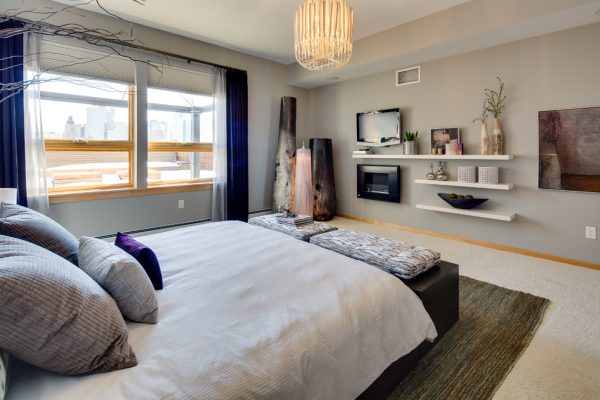 bedroom decorating ideas and designs Remodels Photos Dwelling Designs Minneapolis Minnesota United States modern-bedroom