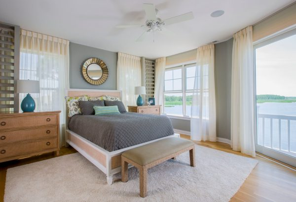 bedroom decorating ideas and designs Remodels Photos Gina Fitzsimmons ASID Annapolis Maryland United States beach-style