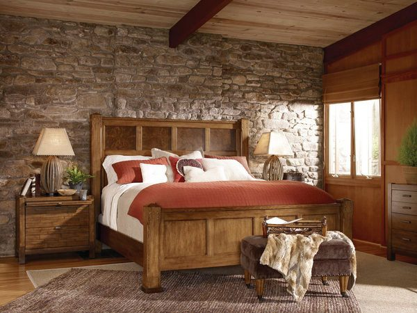 bedroom decorating ideas and designs Remodels Photos Hamilton Park Interiors Salt Lake Utah United States rustic-bedroom