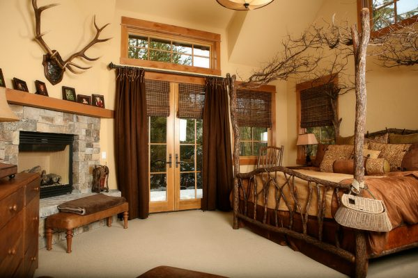bedroom decorating ideas and designs Remodels Photos High Camp Home Truckee California united states rustic-003