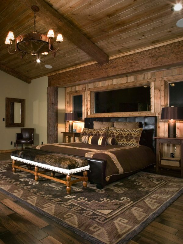 bedroom decorating ideas and designs Remodels Photos High Camp Home Truckee California united states rustic-bedroom-014