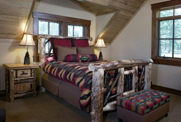 bedroom decorating ideas and designs Remodels Photos High Camp Home Truckee California united states rustic-bedroom-019