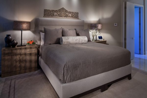 bedroom decorating ideas and designs Remodels Photos Interiors by Cary Vogel Las Vegas Nevada United States contemporary-bedroom-001