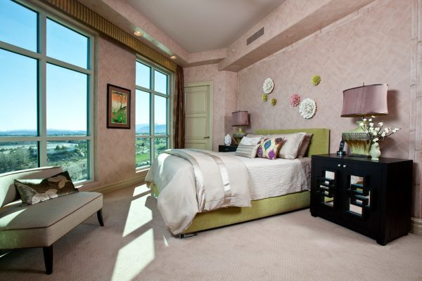 bedroom decorating ideas and designs Remodels Photos Interiors by Cary Vogel Las Vegas Nevada United States contemporary-bedroom