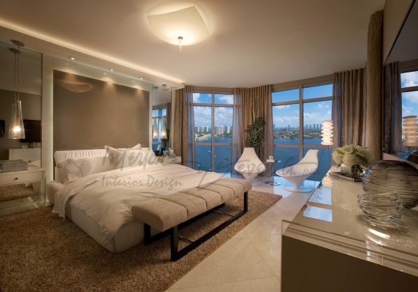 bedroom decorating ideas and designs Remodels Photos Interiors by Steven G Pompano Beach Florida United States contemporary-bedroom-005