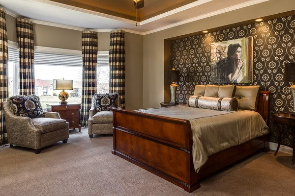 bedroom decorating ideas and designs Remodels Photos Kathleen Ramsey, Allied ASID Overland Park Kansas United States transitional-bedroom