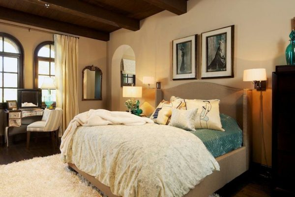 bedroom decorating ideas and designs Remodels Photos Kelly Ferm Inc. Claremont California united states mediterranean-bedroom