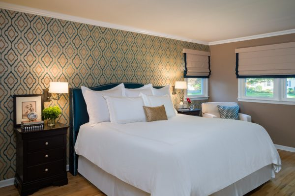 bedroom decorating ideas and designs Remodels Photos Leedy Interiors Tinton Falls New Jersey united states contemporary-bedroom