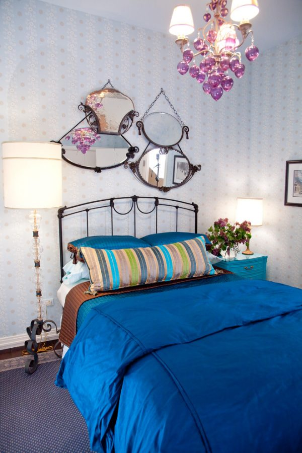 bedroom decorating ideas and designs Remodels Photos Lisa Wolfe Design, Ltd Lake Forest Illinois United States eclectic-bedroom-002