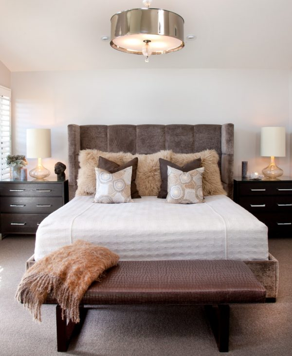 bedroom decorating ideas and designs Remodels Photos Lori Gentile Interior Design Solana Beach California United States contemporary-bedroom-001