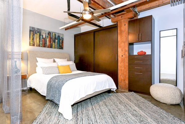 bedroom decorating ideas and designs Remodels Photos Modiano Design Woodland Hills California United States industrial-bedroom