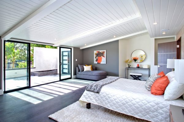 bedroom decorating ideas and designs Remodels Photos Modiano Design Woodland Hills California United States midcentury-bedroom