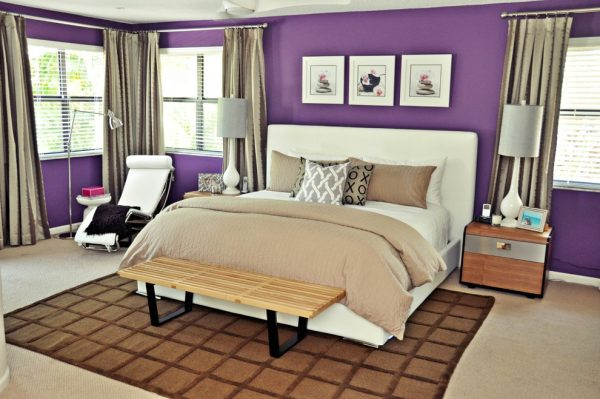 bedroom decorating ideas and designs Remodels Photos Nicole White Designs Interiors LLC Miami Florida contemporary-bedroom-003