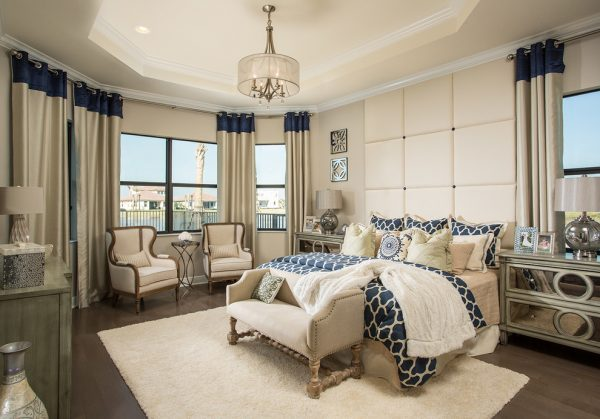 bedroom decorating ideas and designs Remodels Photos Perla Lichi Design Coral Springs Florida United States beach-style-bedroom