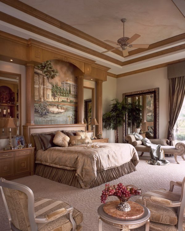 bedroom decorating ideas and designs Remodels Photos Perla Lichi Design Coral Springs Florida United States mediterranean-bedroom-004