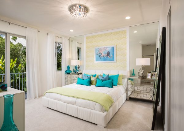 bedroom decorating ideas and designs Remodels Photos Perla Lichi Design Coral Springs Florida United States modern-bedroom
