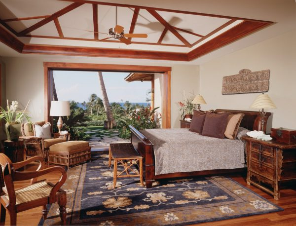 bedroom decorating ideas and designs Remodels Photos Saint Dizier Design Healdsburg California united states tropical-bedroom-002