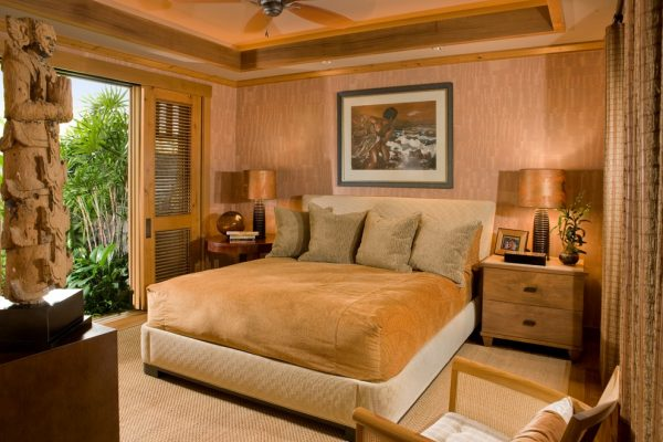 bedroom decorating ideas and designs Remodels Photos Saint Dizier Design Healdsburg California united states tropical-bedroom