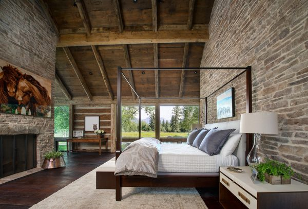 bedroom decorating ideas and designs Remodels Photos Snake River Interiors Jackson Wyoming United States contemporary-bedroom
