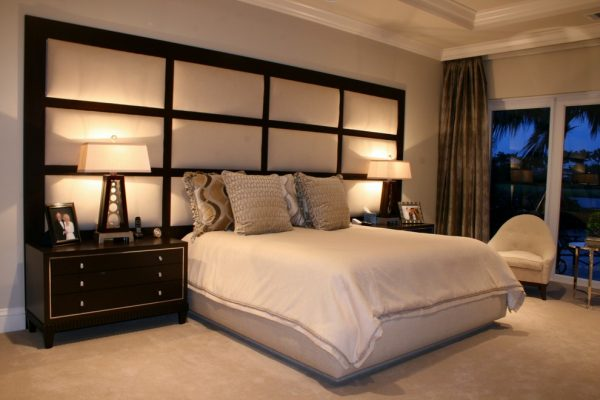 bedroom decorating ideas and designs Remodels Photos Susan Lachance Interior Design Boca Raton Florida United States contemporary-bedroom
