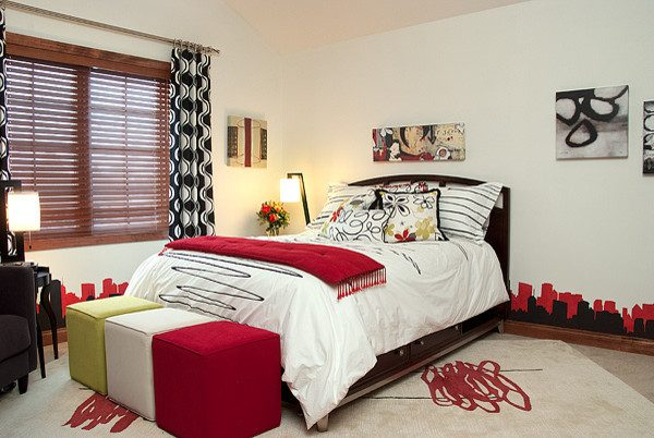bedroom decorating ideas and designs Remodels Photos Suzan J Designs - Decorating Den Interiors Milwaukee Wisconsin contemporary-bedroom-001