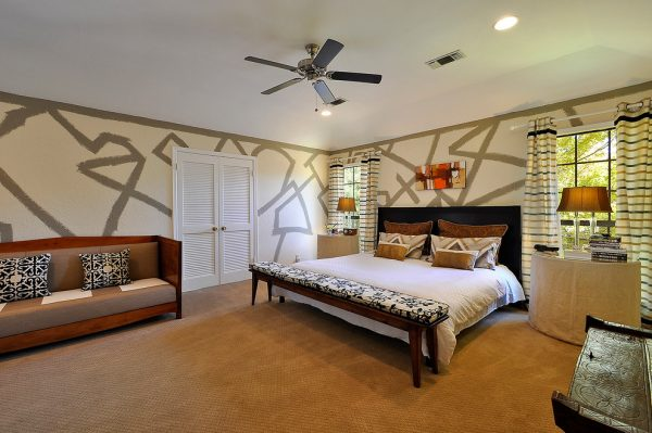 bedroom decorating ideas and designs Remodels Photos Turnstyle Design Austin Texas united states eclectic-bedroom-001