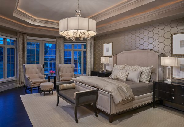 bedroom decorating ideas and designs Remodels Photos Tutto Interiors Northville Michigan United States transitional-bedroom